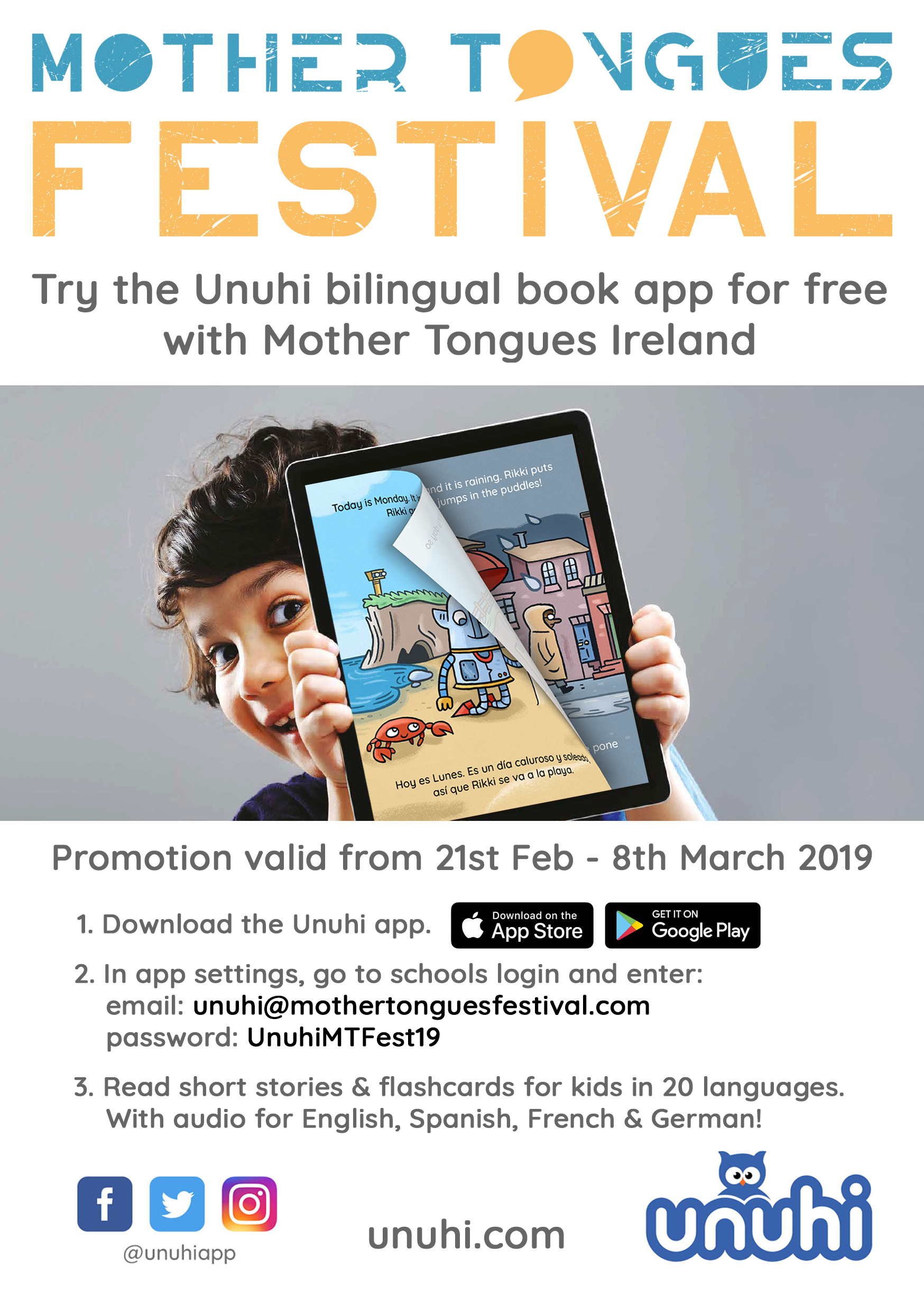 Try the Unuhi bilingual book app FOR FREE! - Mother Tongues